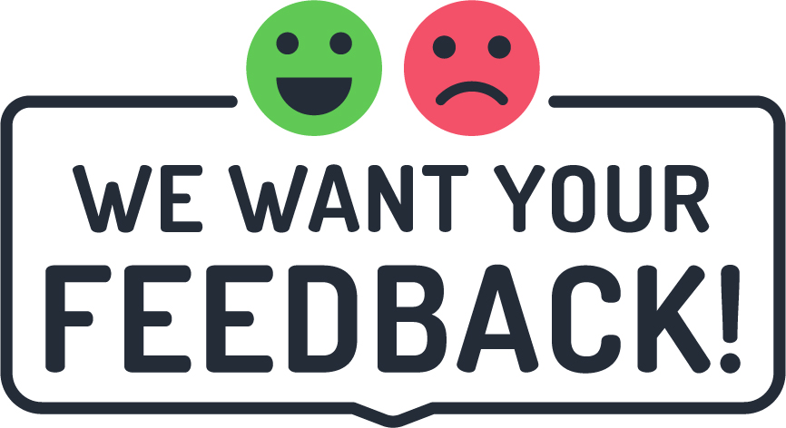 We Want Feedback Advertisement